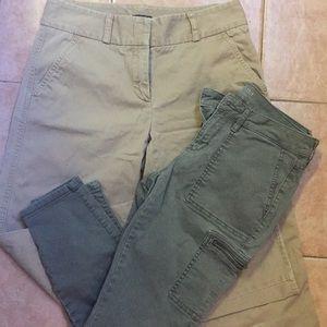 Size 4 khaki bundle -pants and capri pack